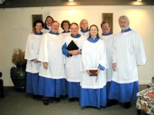The adult choir.