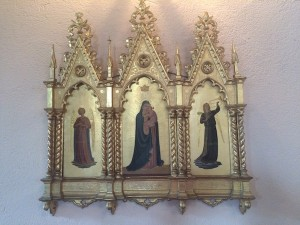Triptych displayed in St. John's nave.